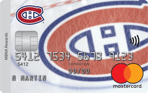 Montreal Canadiens  MBNA Rewards Mastercard