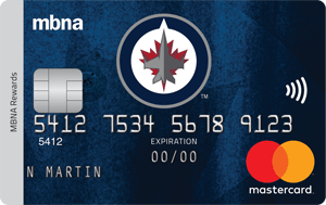 Winnipeg Jets  MBNA Rewards Mastercard