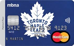 Toronto Maple Leafs  MBNA Rewards Mastercard