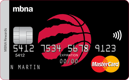 Toronto Raptors  MBNA Rewards Mastercard
